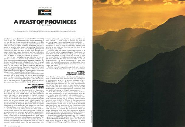 Article Preview: A FEAST OF PROVINCES, April 1972 | Maclean's