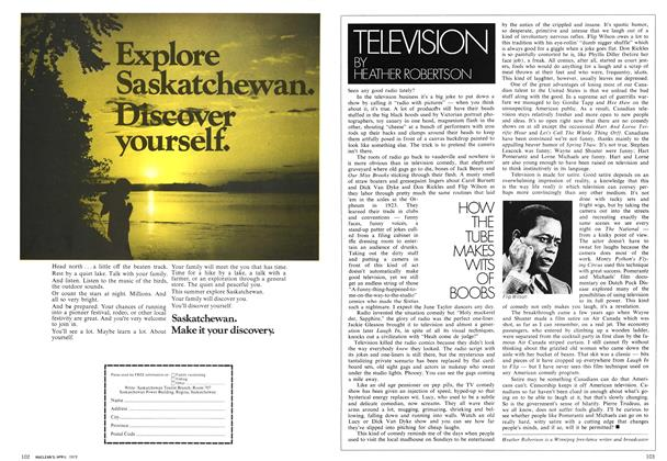 Article Preview: TELEVISION, April 1972 | Maclean's