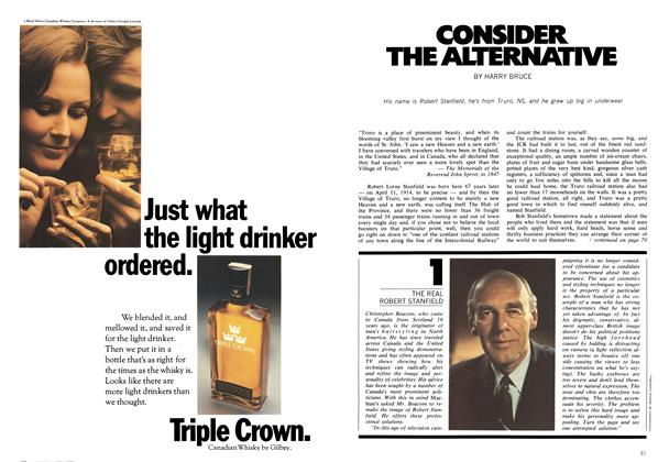 Article Preview: CONSIDER THE ALTERNATIVE, May 1972 | Maclean's