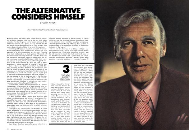 Article Preview: THE ALTERNATIVE CONSIDERS HIMSELF, May 1972 | Maclean's