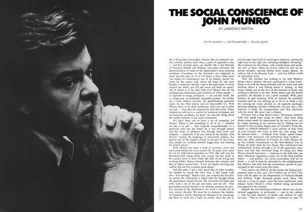 Article Preview: THE SOCIAL CONSCIENCE OF JOHN MUNRO, May 1972 | Maclean's