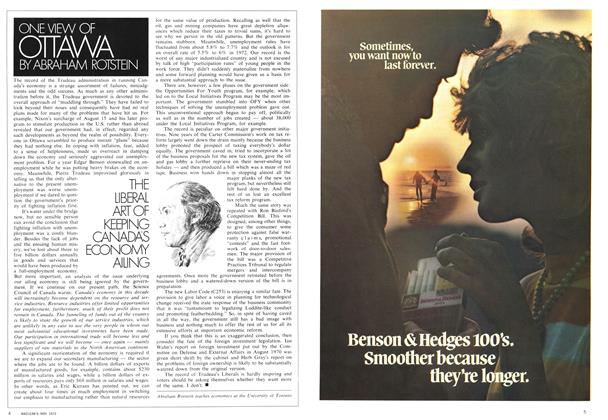 Article Preview: ONE VIEW OF OTTAWA, May 1972 | Maclean's