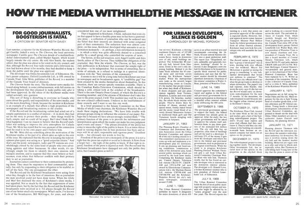 Article Preview: HOW THE MEDIA WITHHELD THE MESSAGE IN KITCHENER, June 1972 | Maclean's