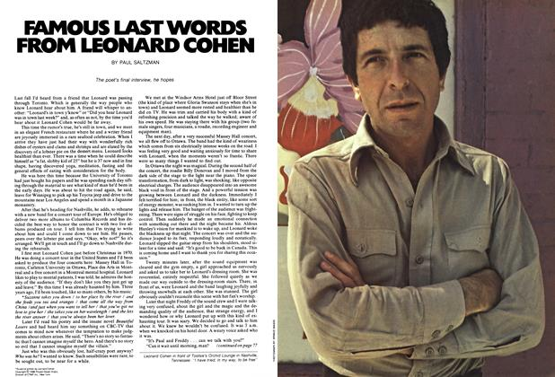 Article Preview: FAMOUS LAST WORDS FROM LEONARD COHEN, June 1972 | Maclean's