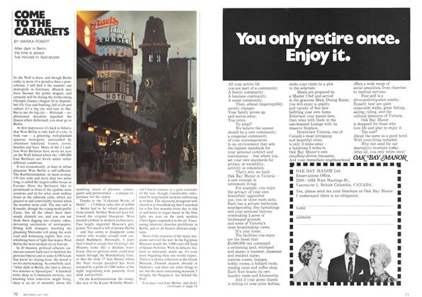 Article Preview: COME TO THE CABARETS, July 1972 | Maclean's