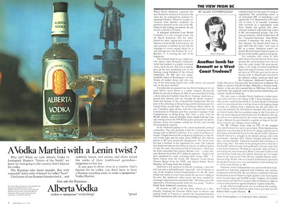 Article Preview: THE VIEW FROM BC, July 1972 | Maclean's