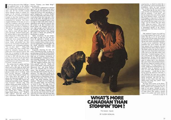 Article Preview: WHAT'S MORE CANADIAN THAN STOMPIN'TOM?, August 1972 | Maclean's