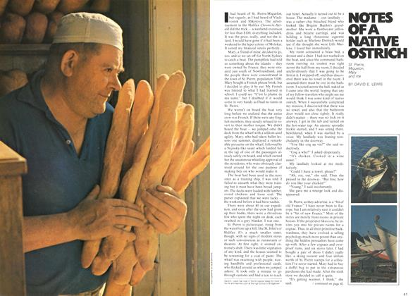 Article Preview: NOTES OFA NATIVE OSTRICH, August 1972 | Maclean's