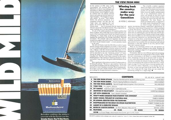 Article Preview: THE VIEW FROM HERE, August 1972   Maclean's