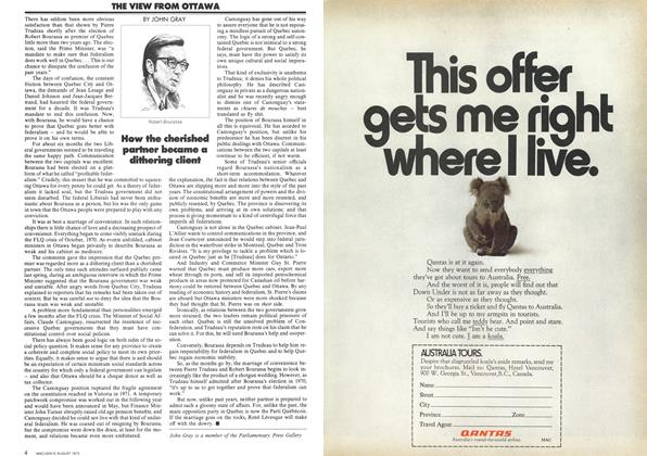 Article Preview: THE VIEW FROM OTTAWA, August 1972   Maclean's