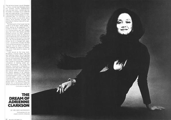Article Preview: THE DREAM OF ADRIENNE CLARKSON, September 1972   Maclean's