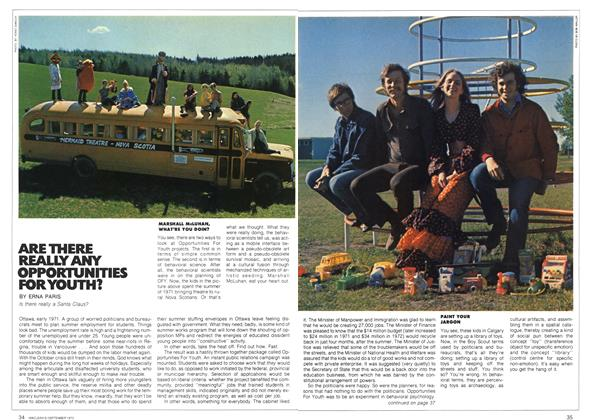 Article Preview: ARE THERE REALLY ANY OPPORTUNITIES FOR YOUTH?, September 1972 | Maclean's