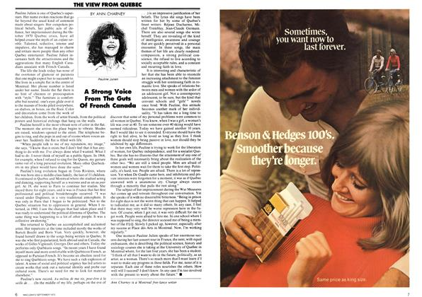 Article Preview: THE VIEW FROM QUEBEC, September 1972 | Maclean's