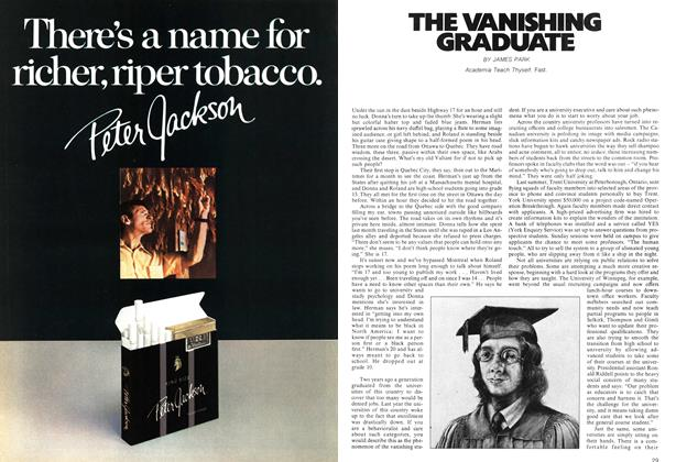 Article Preview: THE VANISHING GRADUATE, October 1972 | Maclean's
