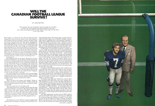 Article Preview: WILL THE CANADIAN FOOTBALL LEAGUE SURVIVE?, October 1972 | Maclean's