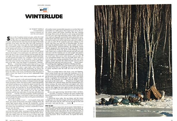 Article Preview: WINTERLUDE, October 1972 | Maclean's