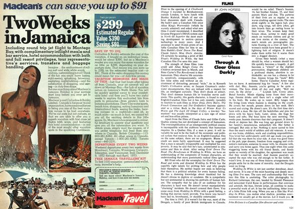 Article Preview: Through A Clear Glass Darkly, November 1972 | Maclean's