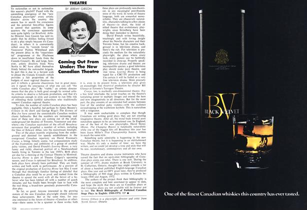 Article Preview: Coming Out From Under: The New Canadian Theatre, November 1972 | Maclean's