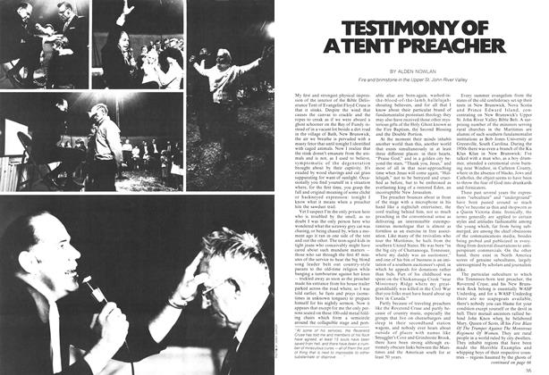 Article Preview: TESTIMONEY OF ATENT PREACHER, December 1972 | Maclean's