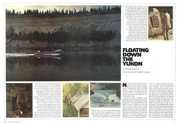Article Preview: FLOATING DOWN THE YUKON, December 1972 | Maclean's