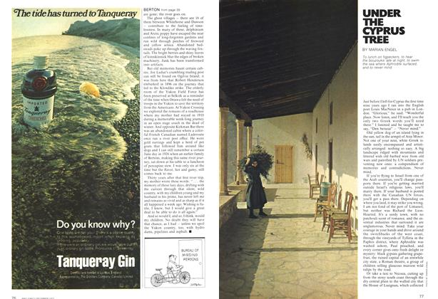 Article Preview: UNDER THE CYPRUS TREE, December 1972 | Maclean's