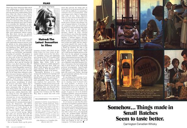 Article Preview: Hatred: The Latest Sensation In Films, December 1972 | Maclean's