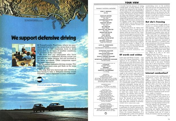 Article Preview: YOUR VIEW, December 1972 | Maclean's