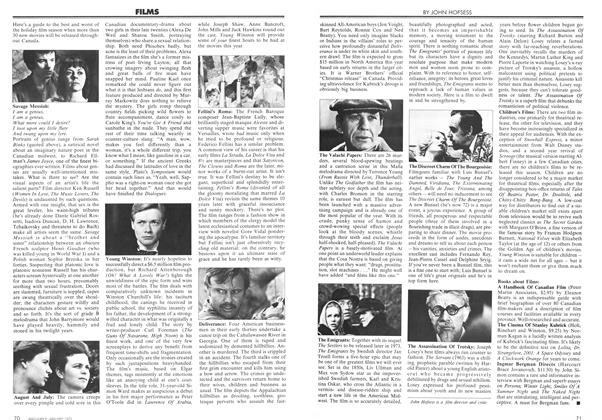 Article Preview: FILMS, January 1973 | Maclean's