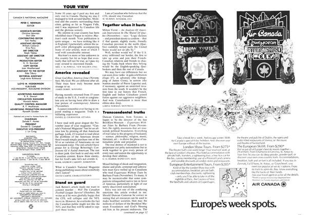 Article Preview: YOUR VIEW, January 1973 | Maclean's