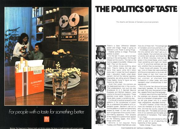 Article Preview: THE POLITICS OF TASTE, February 1973 | Maclean's