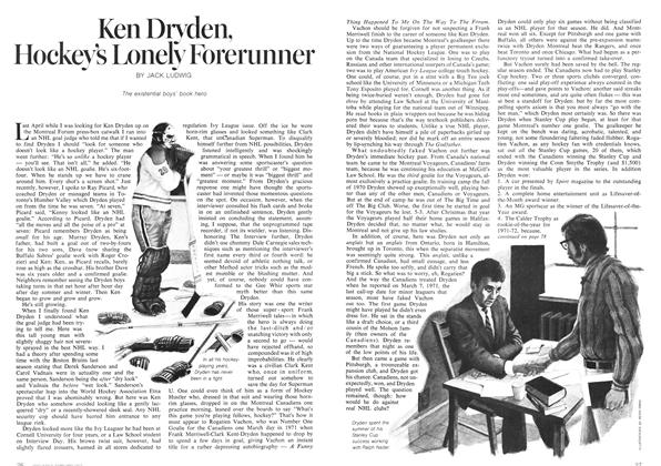 Article Preview: Ken Dryden, Hockey's Lonely Forerunner, February 1973 | Maclean's