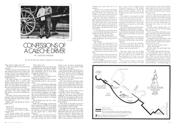 Article Preview: CONFESSIONS OF A CALECHE DRIVER, February 1973 | Maclean's