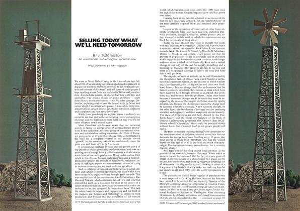 Article Preview: SELLING TODAY WHAT WE'LL NEED TOMORROW, March 1973 | Maclean's