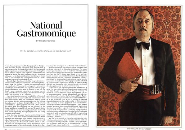 Article Preview: National Gastronomique, March 1973 | Maclean's