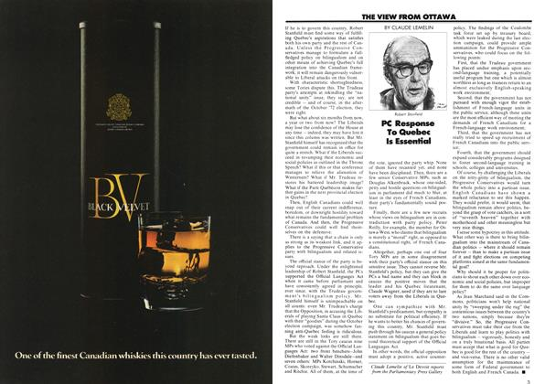 Article Preview: PC Response To Quebec Is Essential, March 1973 | Maclean's