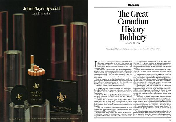 Article Preview: The Great Canadian History Robbery, April 1973 | Maclean's
