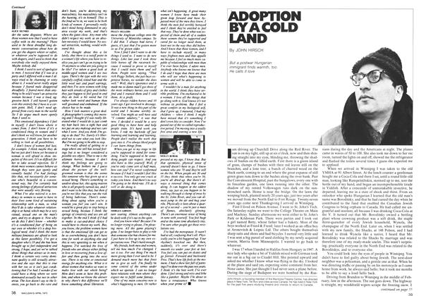 Article Preview: ADOPTION BY A COLD LAND, April 1973 | Maclean's