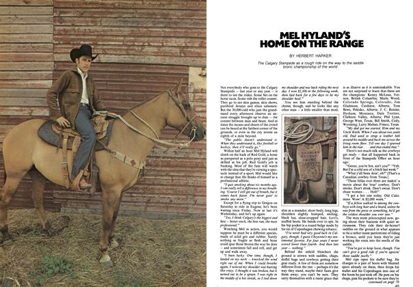 Article Preview: MEL HYLAND'S HOME ON THE RANGE, April 1973 | Maclean's