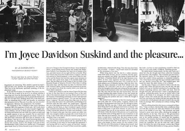 Article Preview: I'm Joyce Davidson Sus kind and the pleasure... ...is mine...mine...mine, May 1973 | Maclean's