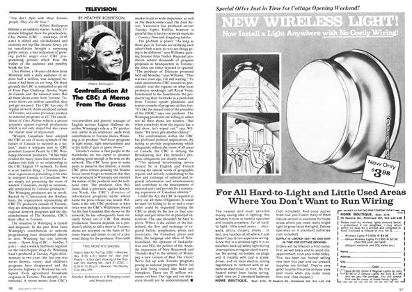 Article Preview: TELEVISION, May 1973 | Maclean's