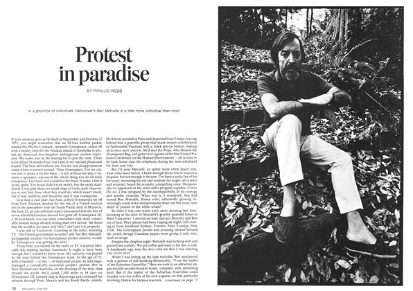 Article Preview: Protest in paradise, June 1973 | Maclean's