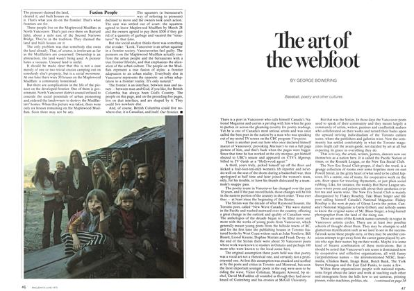 Article Preview: The art of the webfoot, June 1973 | Maclean's