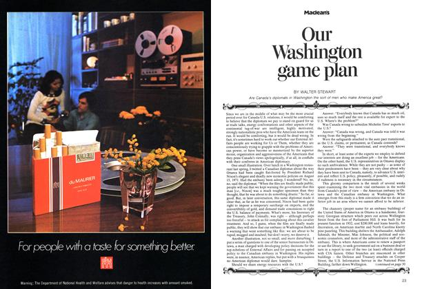 Article Preview: Our Washington game plan, August 1973 | Maclean's