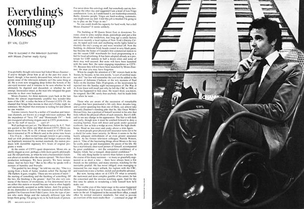 Article Preview: Everything's coming up Moses, August 1973   Maclean's