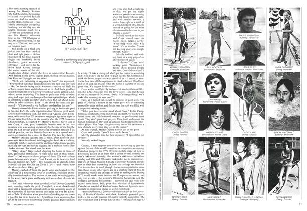 Article Preview: UP FROM THE DEPTHS, August 1973 | Maclean's