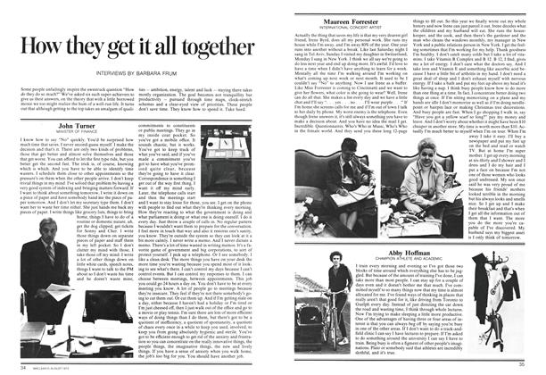 Article Preview: How they get it all together, August 1973 | Maclean's