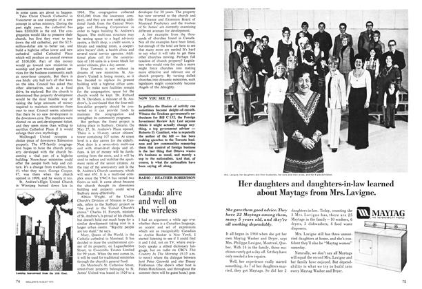 Article Preview: Canada: alive and well on the wireless, August 1973 | Maclean's