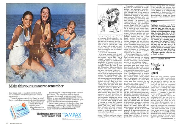 Article Preview: Maggie is a thing apart, August 1973 | Maclean's
