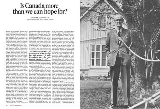 Article Preview: Is Canada more than we can hope for?, September 1973 | Maclean's