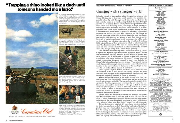 Article Preview: Changing with a changing world, September 1973 | Maclean's
